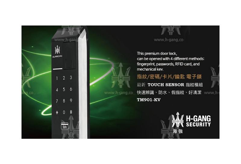 HGS海強 TM901-KV 指紋卡片密碼鎖