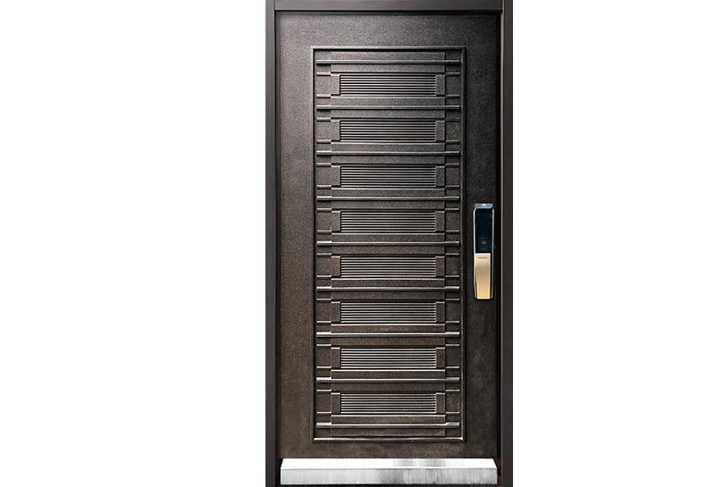 鑄鋁隔音玄關門-W105.5xH222