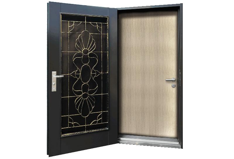 鍛造隔音雙玄關門-W93xH208