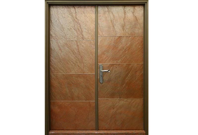 豪華石物玄關門